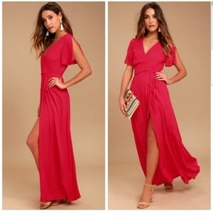 NWT Lulu's Much Obliged Wrap Maxi Dress XL